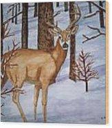 Deer Wood Print