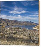 Deer Creek Dam-provo Utah Wood Print