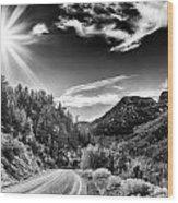 Deer Creek Road Wood Print