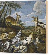 Deer Hunting Wood Print