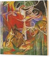 Deer In The Forest 1913 Wood Print