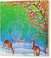 Deer Park Wood Print