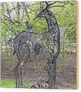 Deer Sculpture Wood Print