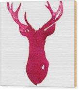 Deer Silhouette Painting Watercolor Art Print Wood Print