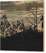Deer Silhouette Wood Print
