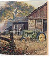 Deere Country Wood Print