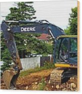 Deere For Hire Wood Print