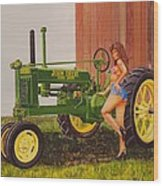 1938 Model B John Deere Wood Print