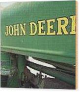 Deere Support Wood Print