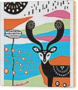 Deery Me Wood Print by Susan Claire