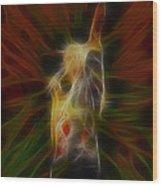 Def Leppard-adrenalize-joe-gb22-fractal-1 Wood Print
