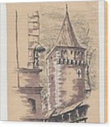 Defensive Bastion Cracow Wood Print