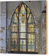 Defiant Stain Glass Church Window #1 Wood Print