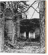 Defunct Farm Wood Print
