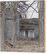 Defunct House Wood Print