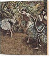 Degas, Edgar 1834-1917. Ballet Scene Wood Print by Everett