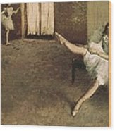 Degas, Edgar 1834-1917. Before Wood Print by Everett