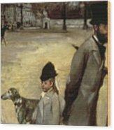 Degas Place De La Concorde Wood Print
