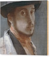Degas Self-portrait Wood Print