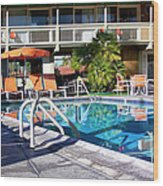 Del Marcos Pool Palm Springs Wood Print