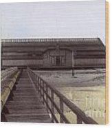 Del Monte Bathhouse From Pier California  Circa 1890 Wood Print