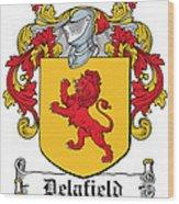 Delafield Coat Of Arms Irish Wood Print