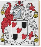 Delahay Coat Of Arms Irish Wood Print