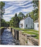 Delaware Canal Kingston New Jersey Wood Print