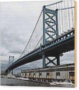 Delaware River Bridge - Philadelphia Wood Print