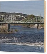 Delaware River Easton Pennsylvania Wood Print