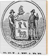 Delaware State Seal Wood Print