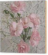 Delicate Pink Flowers Wood Print by Good Taste Art