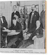 Delegation In London Including  Arthur Wood Print