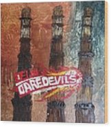 Delhi Daredevils In Delhi Wood Print