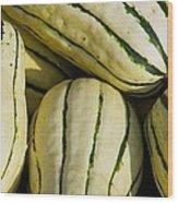 Delicata Squash Wood Print