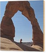 Delicate Arch - Skyview Wood Print