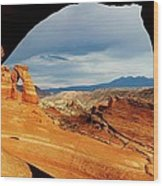 Delicate Arch Framed Wood Print