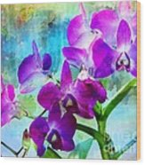 Delicate Orchids Wood Print