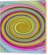 Delicate Pink Twirl Wood Print