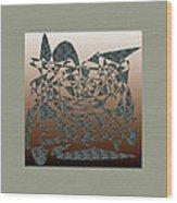 Delicate Stroke Wood Print