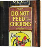 Delicious Chicken Dinners Sign Wood Print