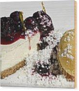 Delicious Dessert Wood Print by Sheldon Kralstein