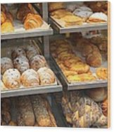 Delicious Pastries In Brussels Wood Print