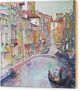 Delight Of Venice Wood Print