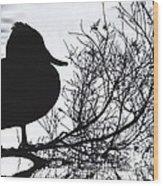 Delightful Duck Wood Print