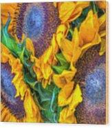 Delightfully Sunny Wood Print