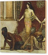 Delilah And The Philistines Wood Print