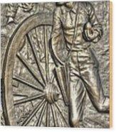 Delivering The Charge - Detail-b 1st New York Light Artillery - Fitzhughs Battery K Gettysburg Wood Print