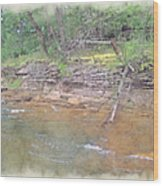 Dells Creekside Wood Print