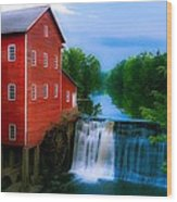 Dells Mill Wood Print